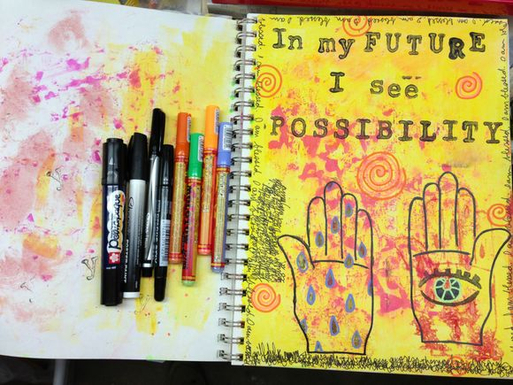 Art Journaling with New Molotow Markers