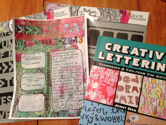 Creative Lettering and a Journal Page