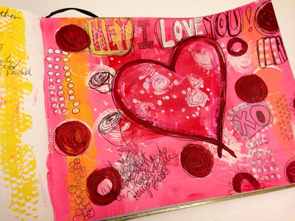 Art Journal Pages-Love Is . . .
