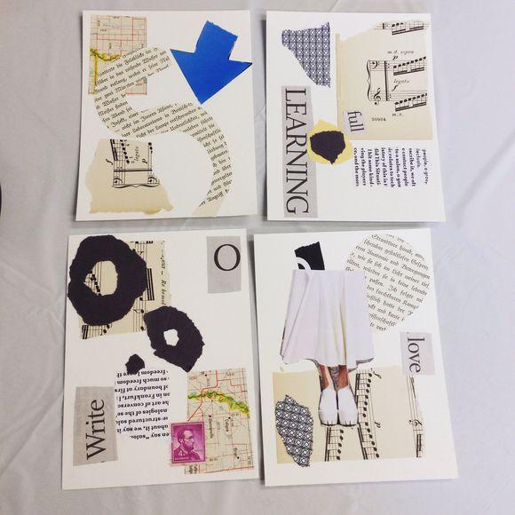 Spontaneous Collage Workshop Phone Pics