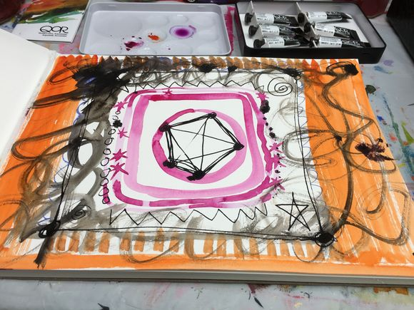 Watercolor Wednesday-Ink and QoR