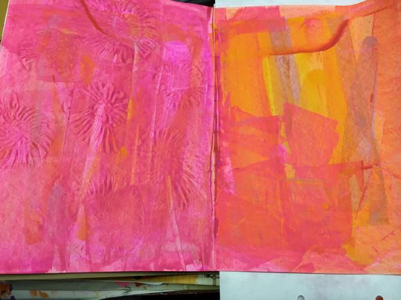 Mark Making Monday-Art Journal Backgrounds