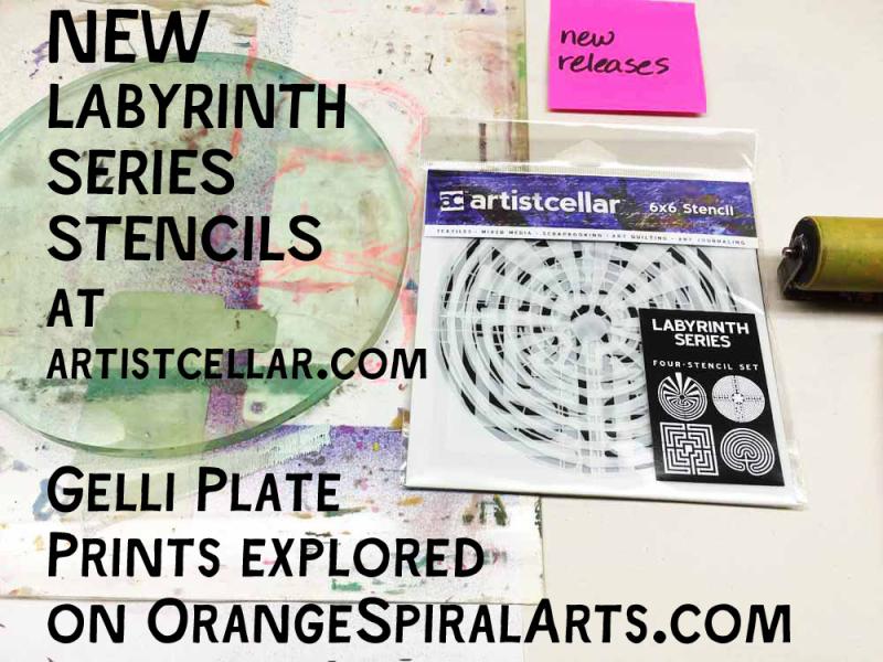 OrangeSpiralArts-LabyrinthStencilsUsedwiththeGelliPlate