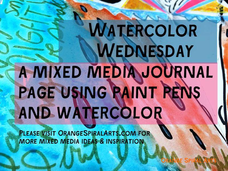 OrangeSpiralArts_MixedMediaJournalPage