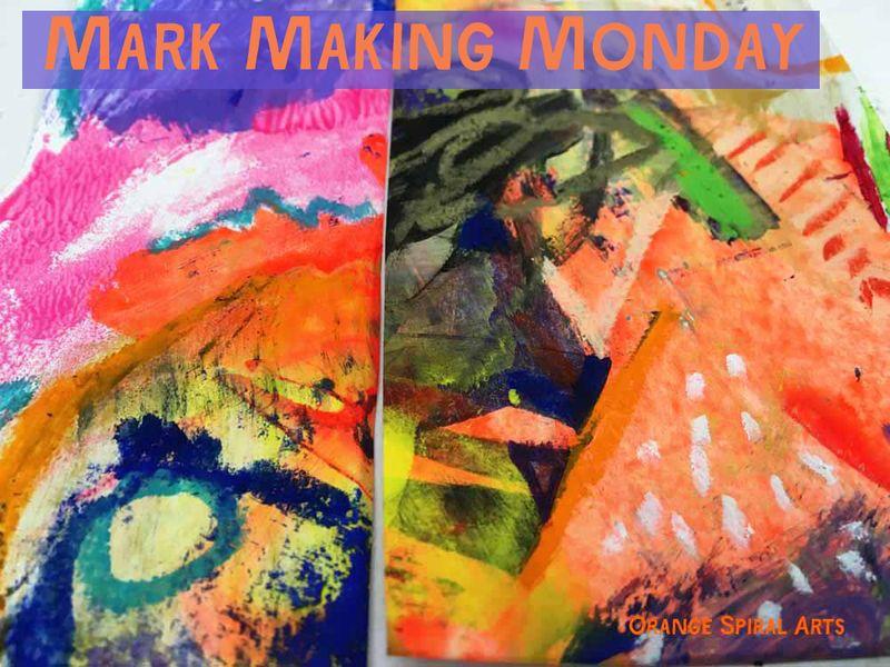 OrangeSpiralArts-MarkMakingMonday-OilPastel