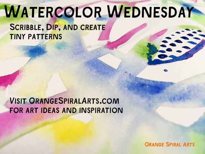 OrangeSpiralArts-WatercolorWednesday32