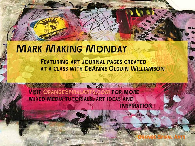 OrangeSpiralArts-MarkMakingMonday-ArtJournalSpread
