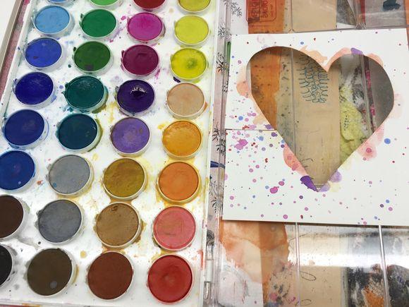Watercolor Wednesday-Heart