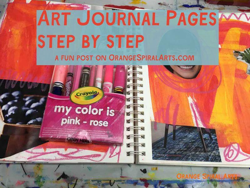OrangeSpiralArts-ArtJournalPagesStepbyStep