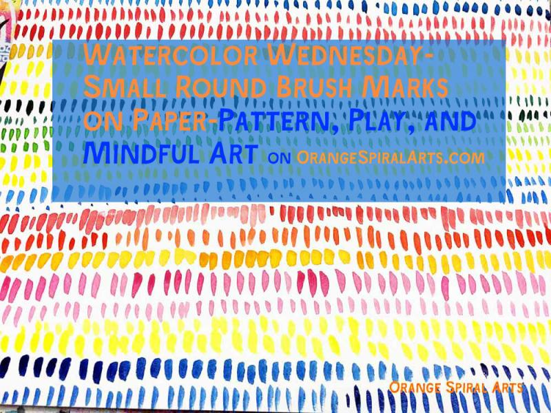 OrangeSpiralArts-WatercolorMarksonPaper
