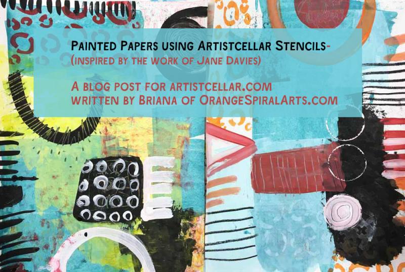 OrangeSpiralArts-PaintedPapersforArtistcellar