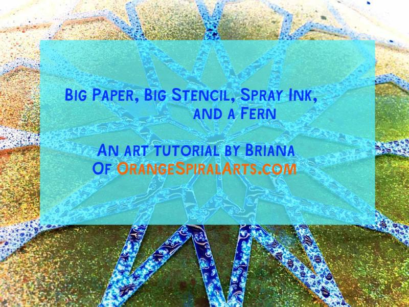 OSA-BigPaper Stencil Fern SprayInk