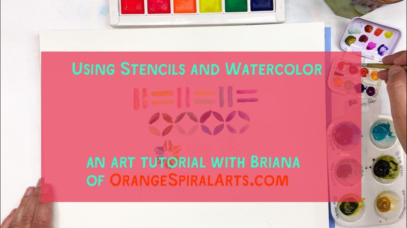 OSAStencilsandWatercolor